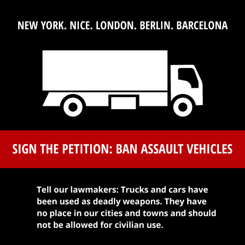 Ban cars as weapons